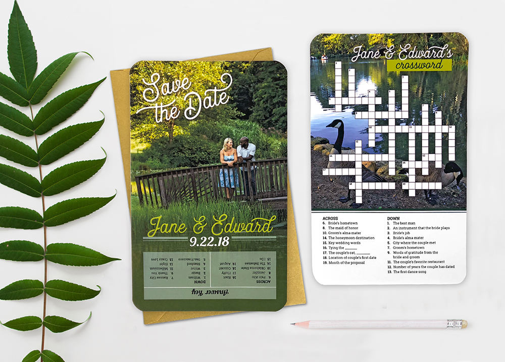Save the Date Crossword Puzzle